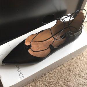 Top shop black kingdom lace up shoes